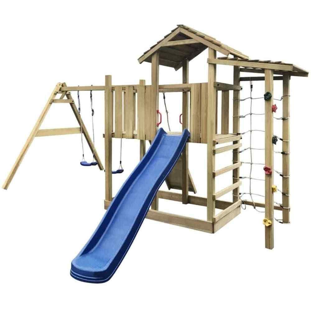 Épinglé Sur Jeux, Activités De Plein Air. Jouets Et Jeux avec Balancoire Bois Toboggan