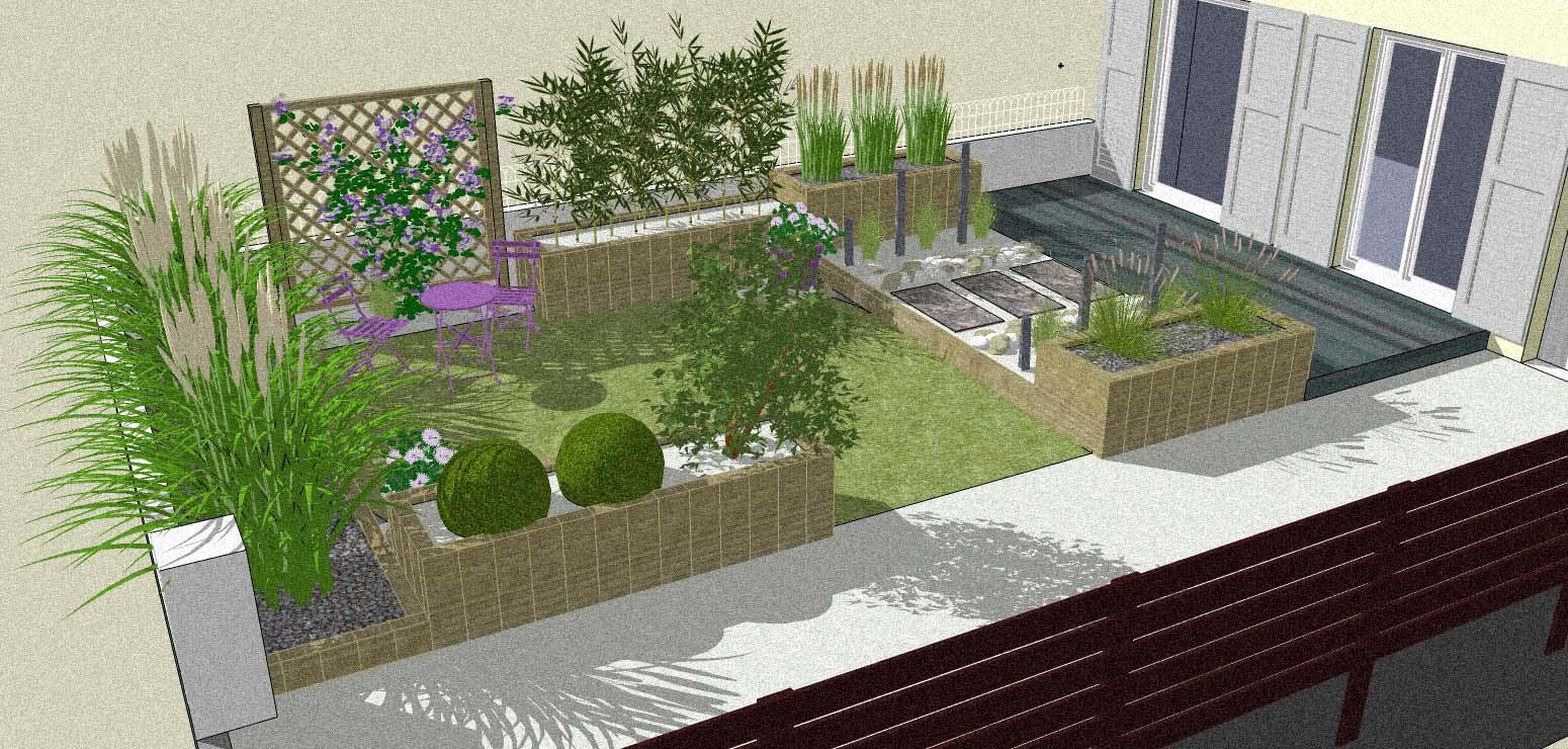 Etudes Création Et Aménagement De Parcs Et Jardin Sur La ... serapportantà Aménagement Du Jardin Photo