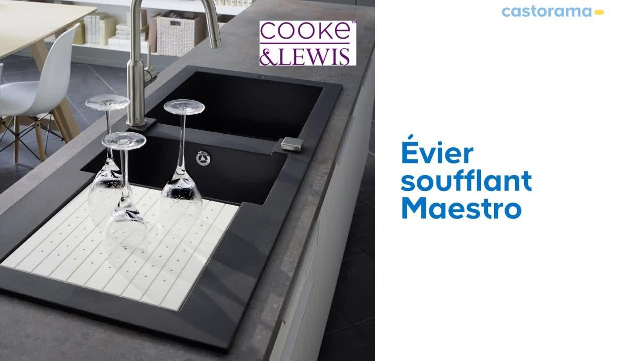 Évier Soufflant 2 Cuves + Égouttoir Maestro Cooke & Lewis (679912) Castorama encequiconcerne Evier Castorama