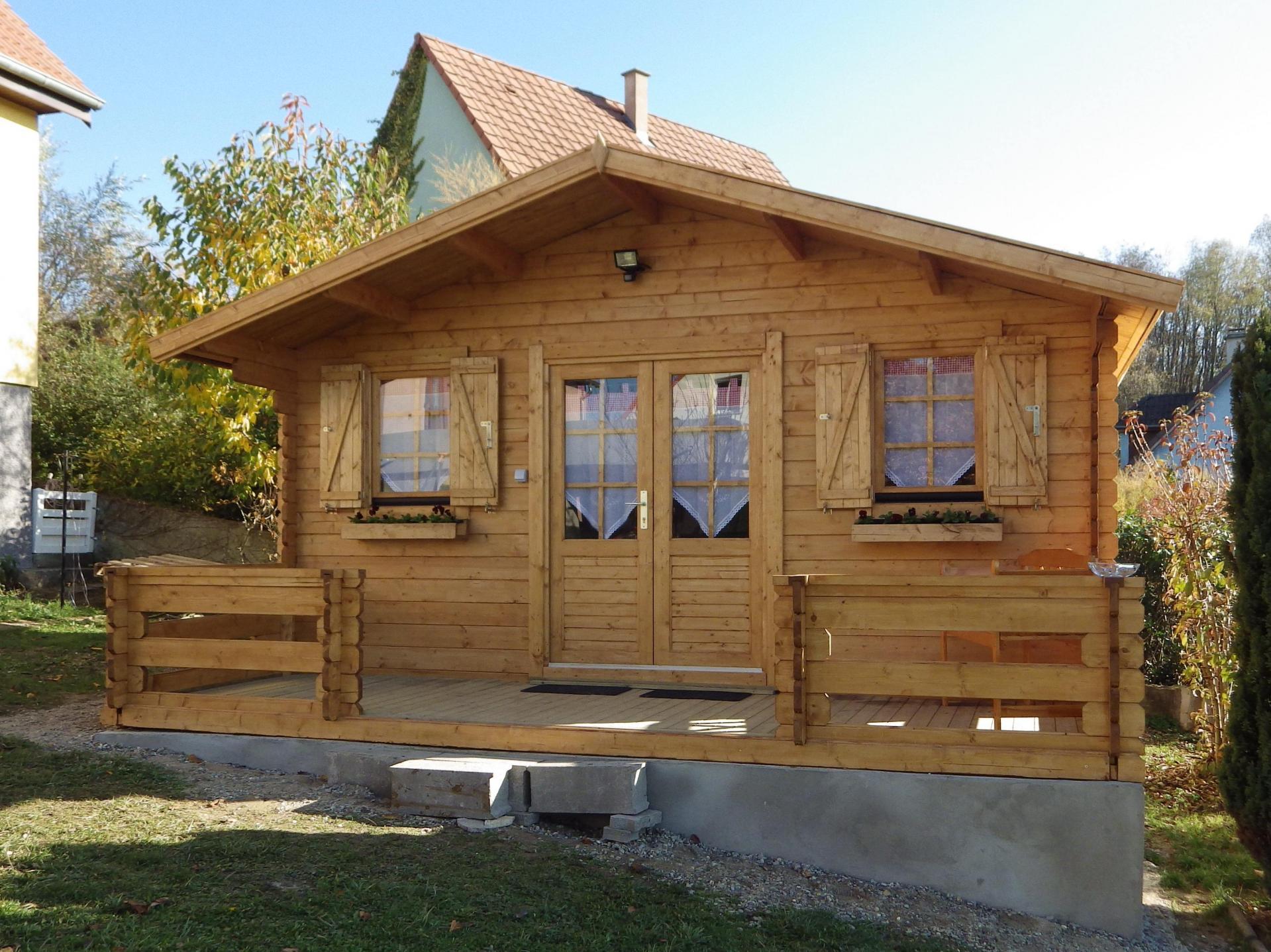 Fabricant Constructeur De Kits Chalets En Bois Habitables ... destiné Abri Jardin 30M2