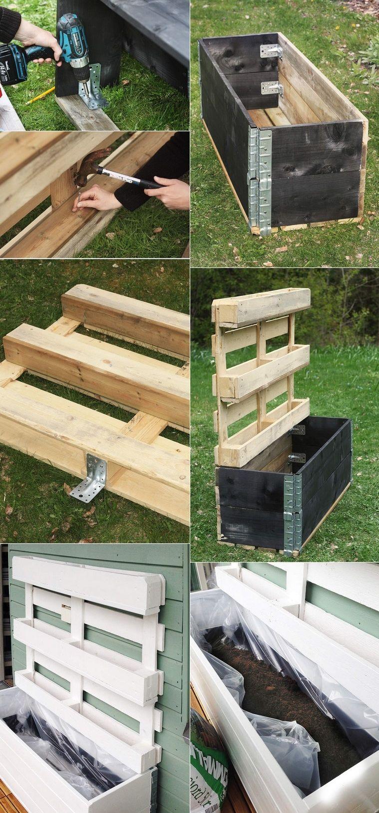Fabriquer Une Jardinière Verticale En Palette Bois Diy ... à Bac À Jardiner