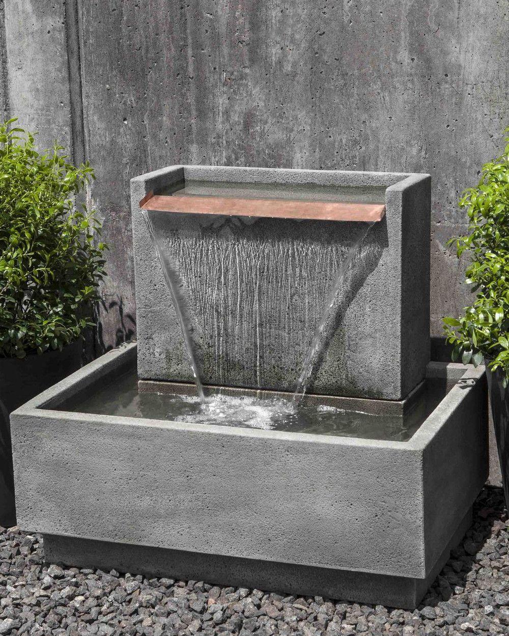 Falling Water Ii Garden Fountain | Fontaine De Jardin ... dedans Fontaine De Jardin Moderne