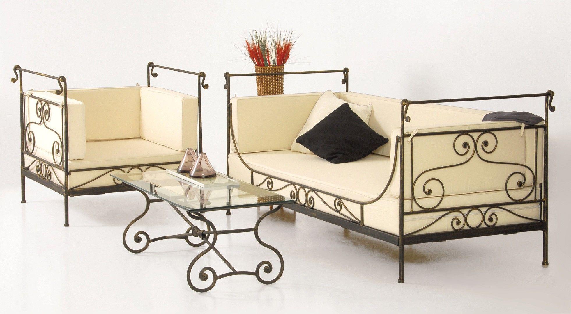 Fauteuil En Fer Forgé - Fauteuil - Salon | Iron Furniture ... dedans Decoration Fer Forge Pas Cher