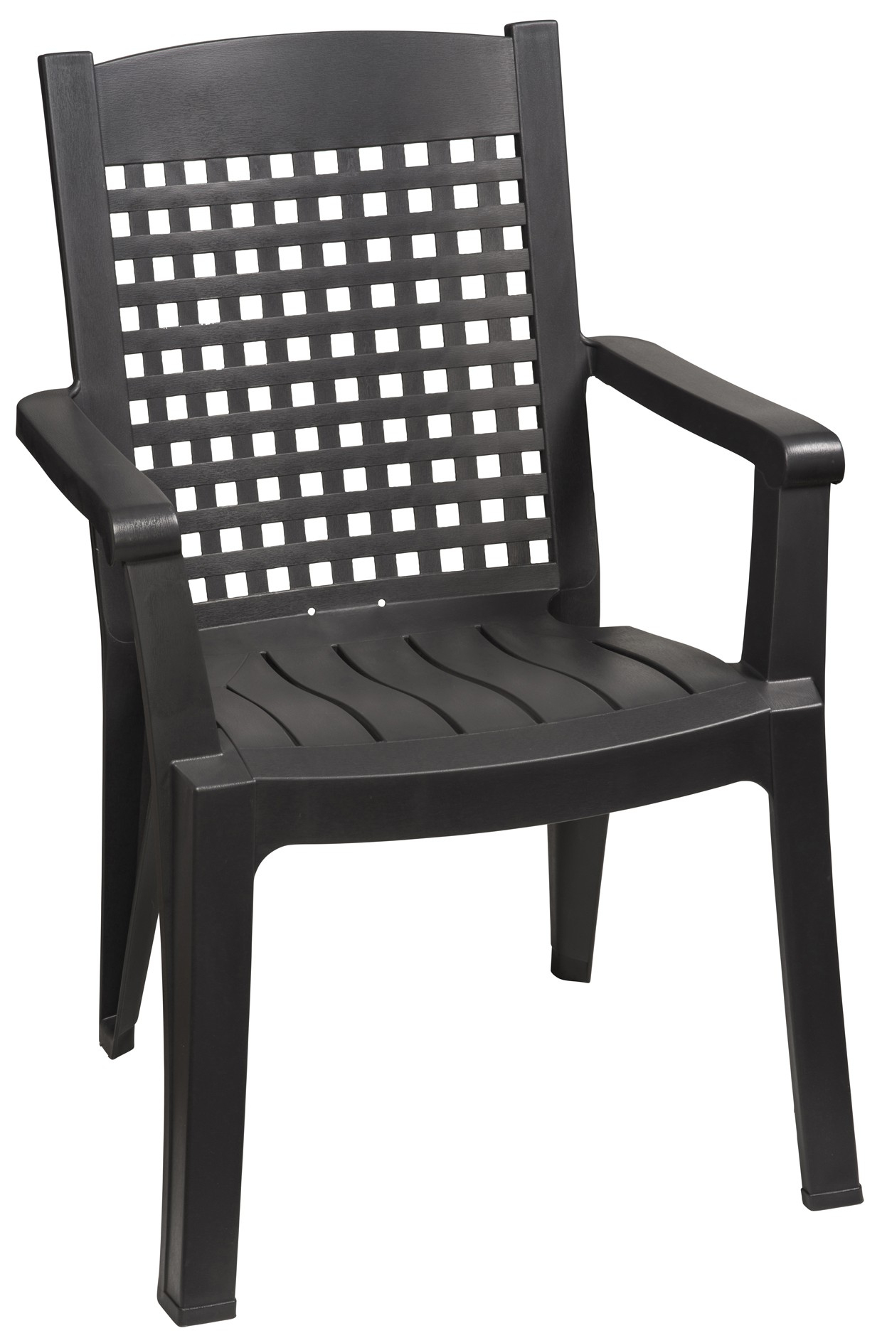 Fauteuil Palao Anthracite tout Grosfillex Chaise