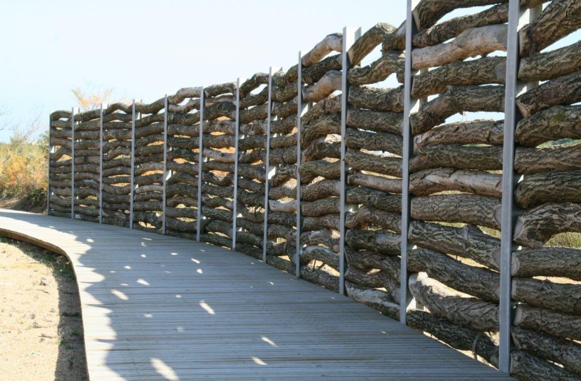 Fence Parc Ecologique De La Barre, Anglet (Mutabilis ... pour Brise Vent Jardin