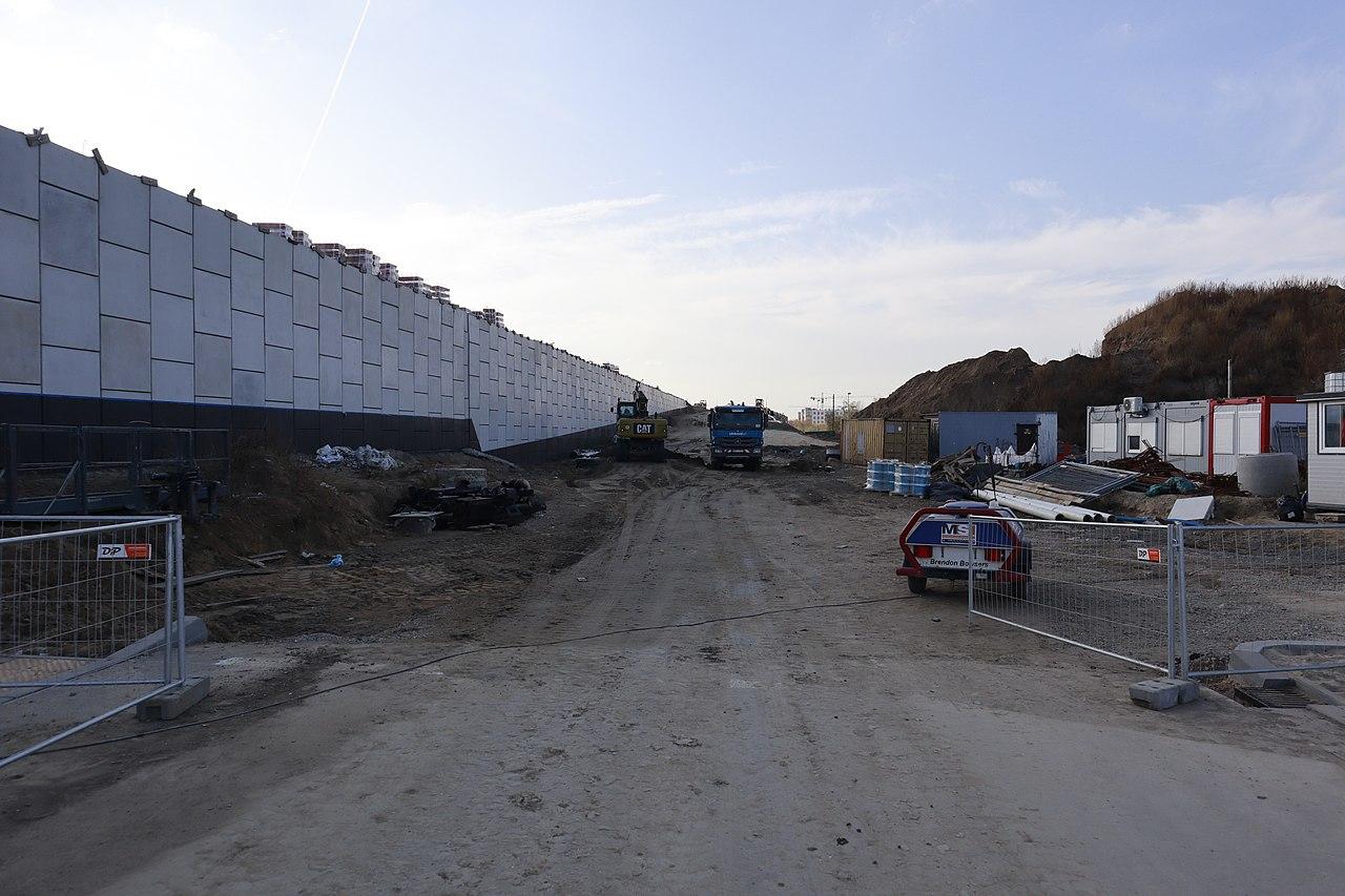 File:construction Works At Expressway S2 (Miasteczko Wilanów ... destiné Bricoman