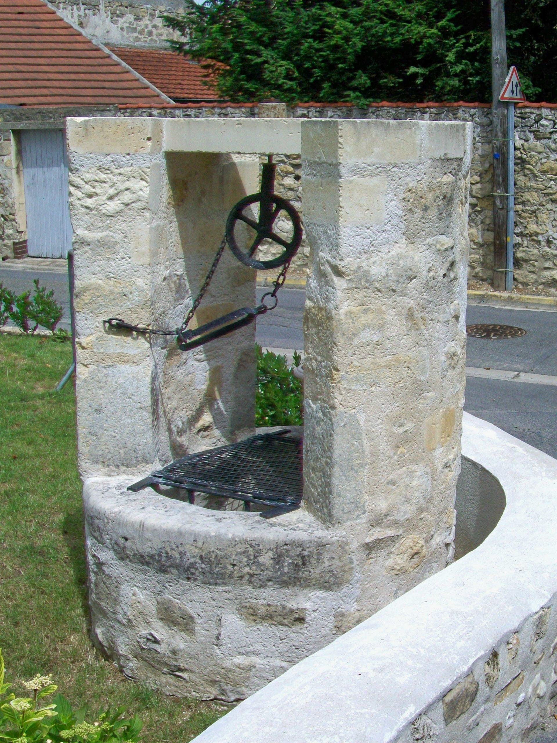 File:seugy (95), Ancien Puits Communal, Rue De La Chapelle ... dedans Puit De Jardin