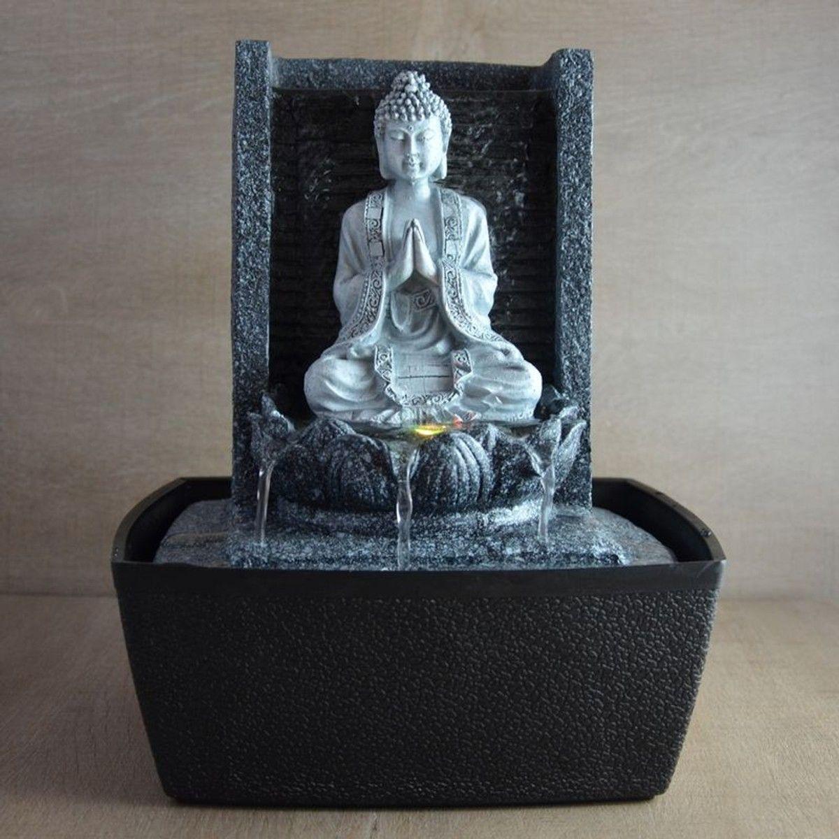 Fontaine Bouddha En Méditation Nirvana - Taille : Taille ... tout Fontaine Bouddha