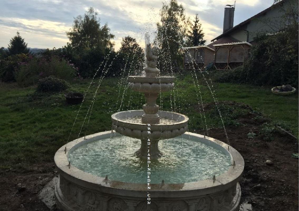 Fontaine De Jardin Exterieur Annecy Jets D'eau-A concernant Fontaine A Eau Pour Jardin