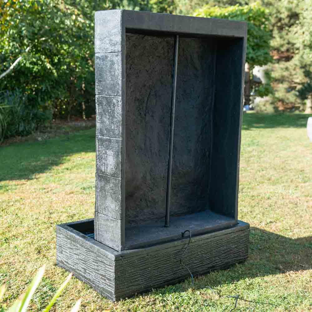 Fontaine De Jardin Mur D'eau Visage De Bouddha 1 M 50 Noir avec Mur D Eau Jardin