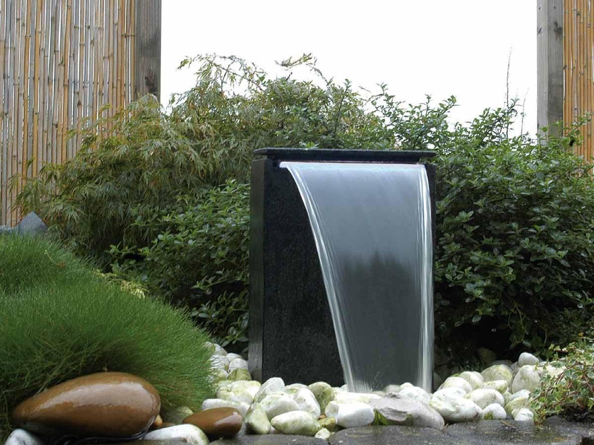 Fontaine De Jardin Vicenza Avec Chute D'eau Led concernant Fontaine A Eau Pour Jardin