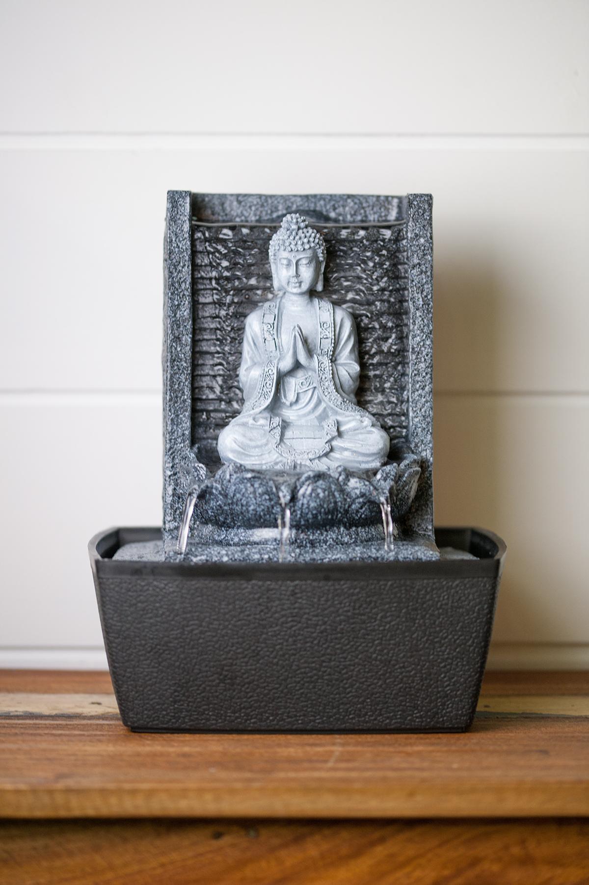 Fontaine D'Intérieur Bouddha Nirvana En Résine pour Fontaine Bouddha