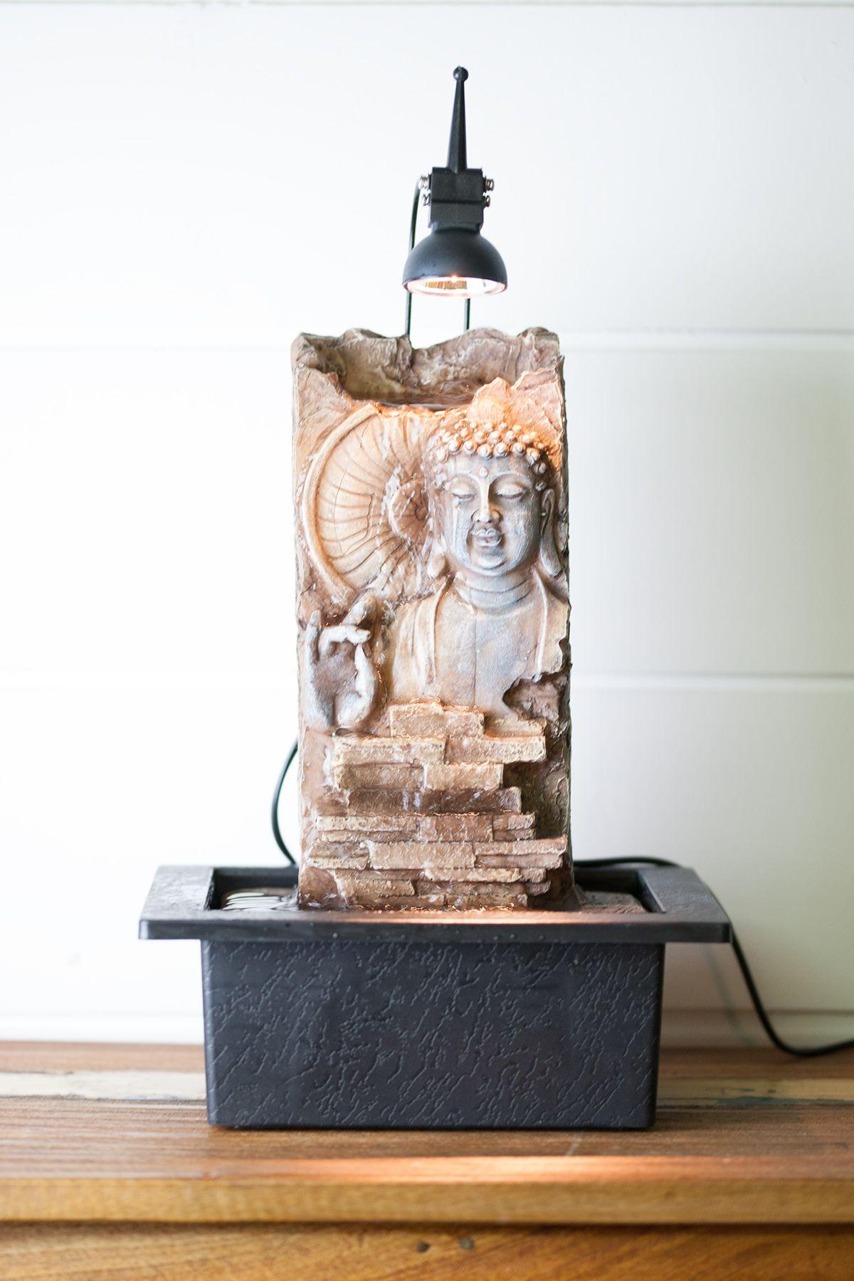 Fontaine D'intérieur Mur D'eau Bouddha Relief   Fontaine ... concernant Fontaine Bouddha Interieur