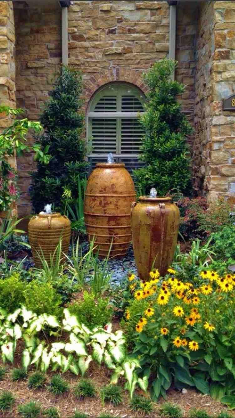 Fontaine Extérieure À Faire Soi-Même : 85 Points D'eau ... pour Fontaine De Jardin Moderne