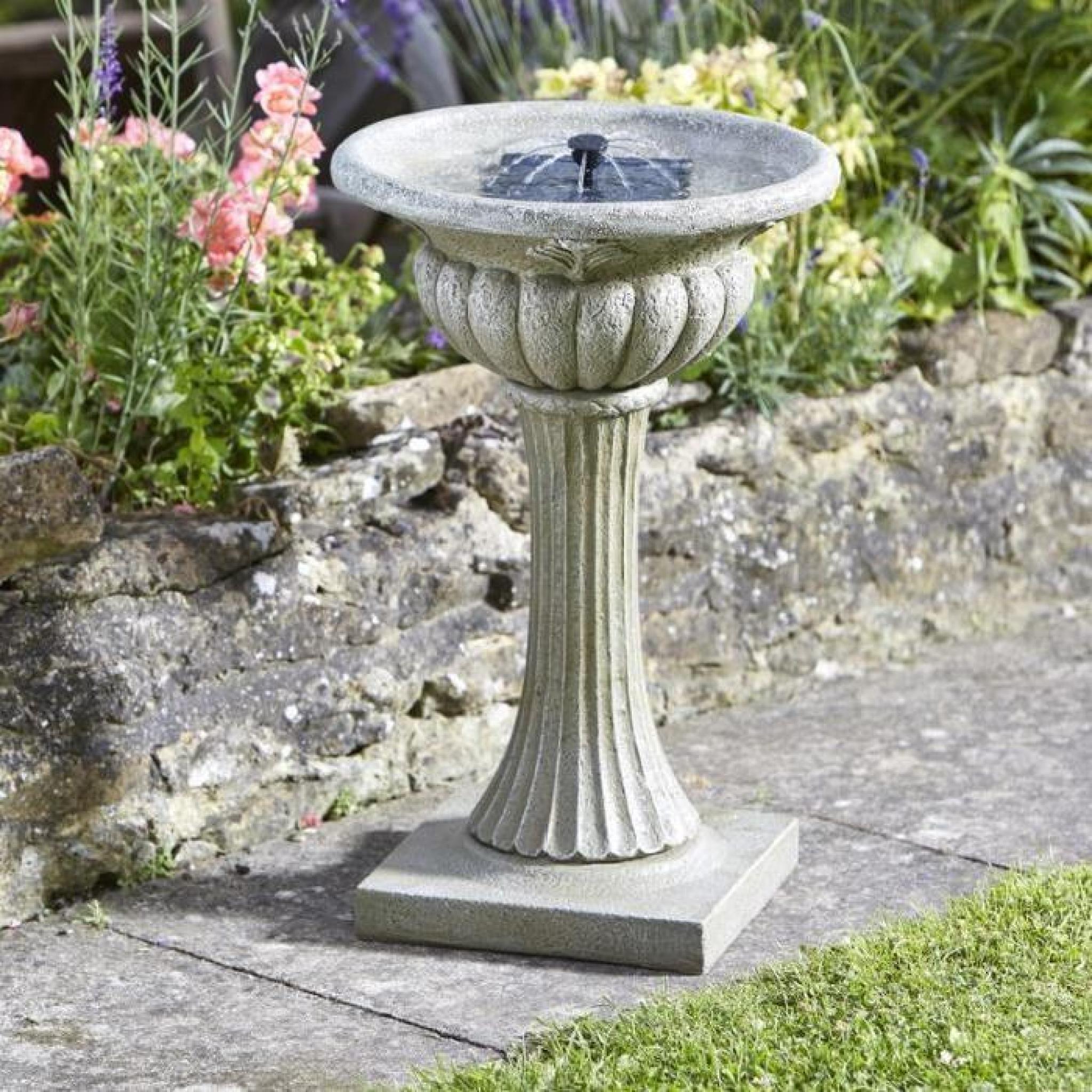 Fontaine Solaire Bain D Oiseau Rochester à Fontaine Solaire