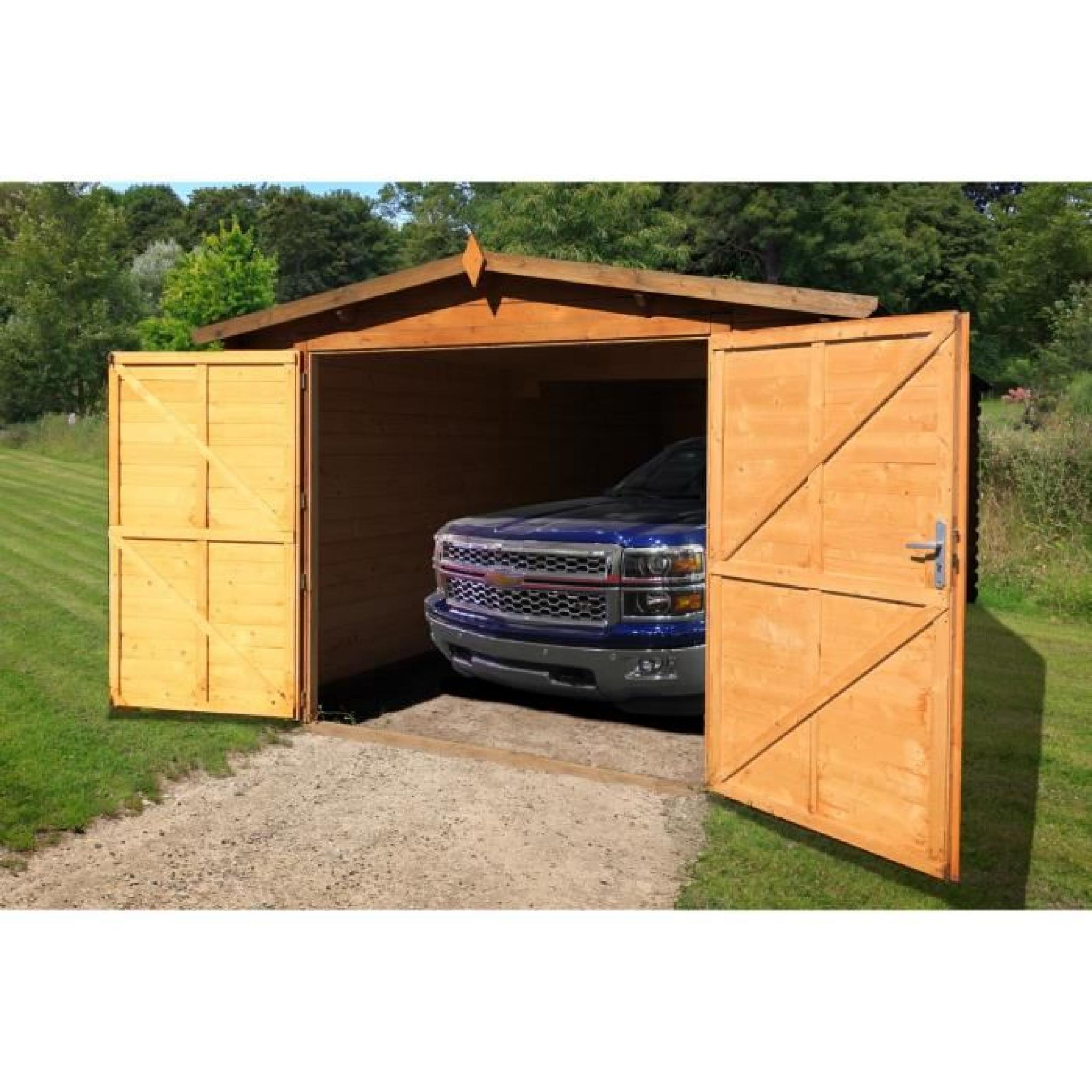 Garage Bois 300X500 28Mm concernant Garage Bois Pas Cher
