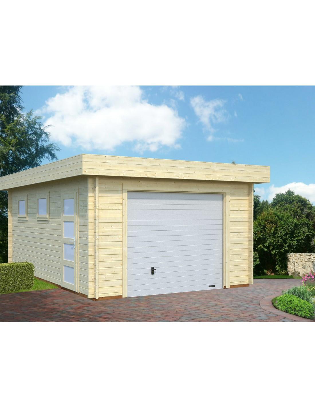 Garage Rasmus 19.8 M² En Bois Massif De 44 Mm - Serres-Et-Abris concernant Joint Epdm Caoutchouc Pour Serre De Jardin Acd