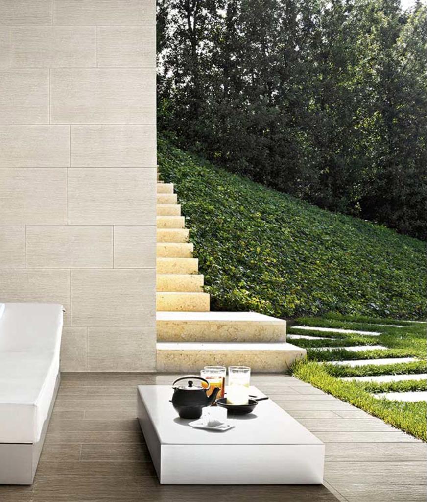 Geotech Carrelage Aspect Basalte Floor Gres Florim Mur Tons ... tout Salon De Jardin Blanc Design