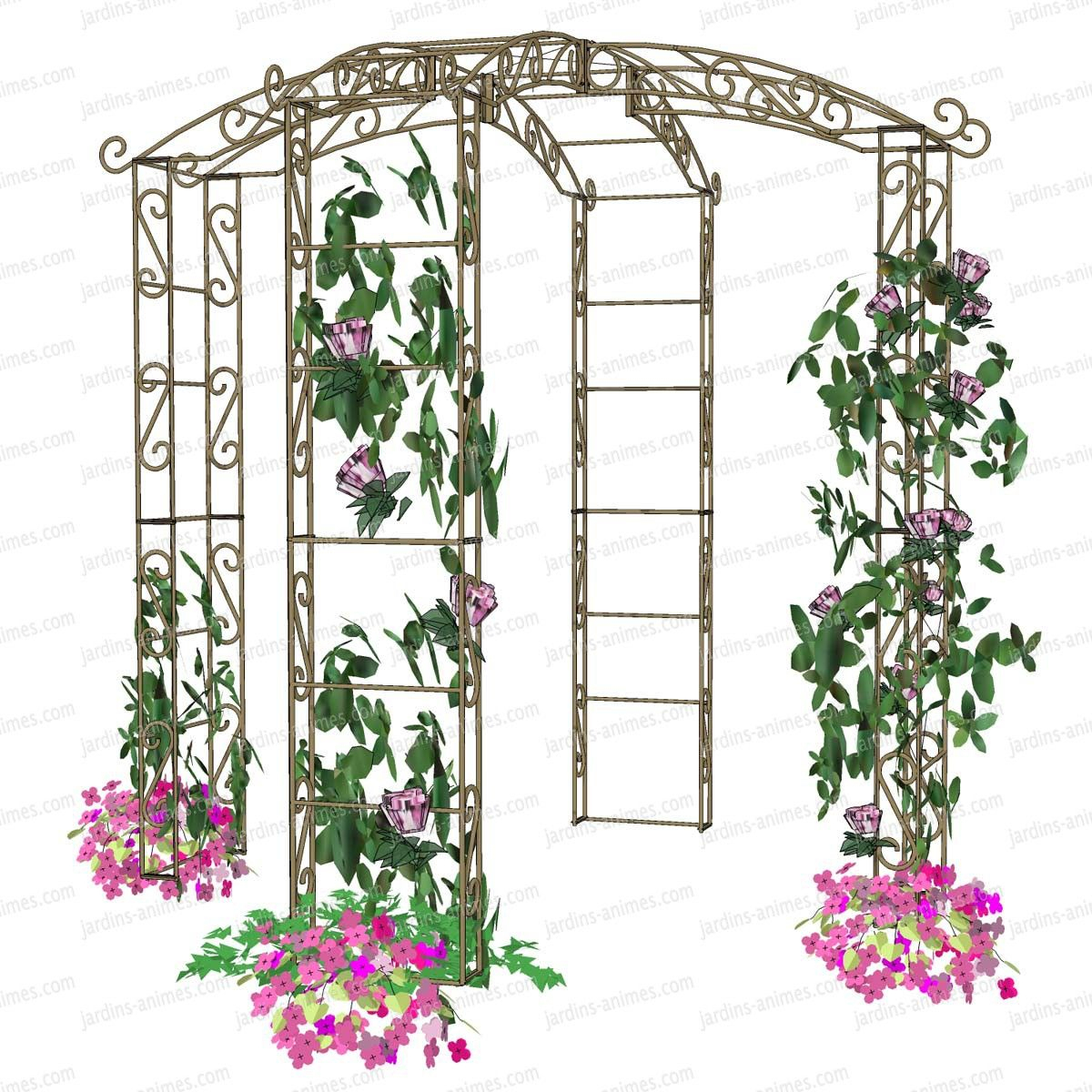 Gloriette Kiosque En Fer 4 Pieds Diam. 2.14M | Arche Jardin ... pour Kiosque Jardin Fer