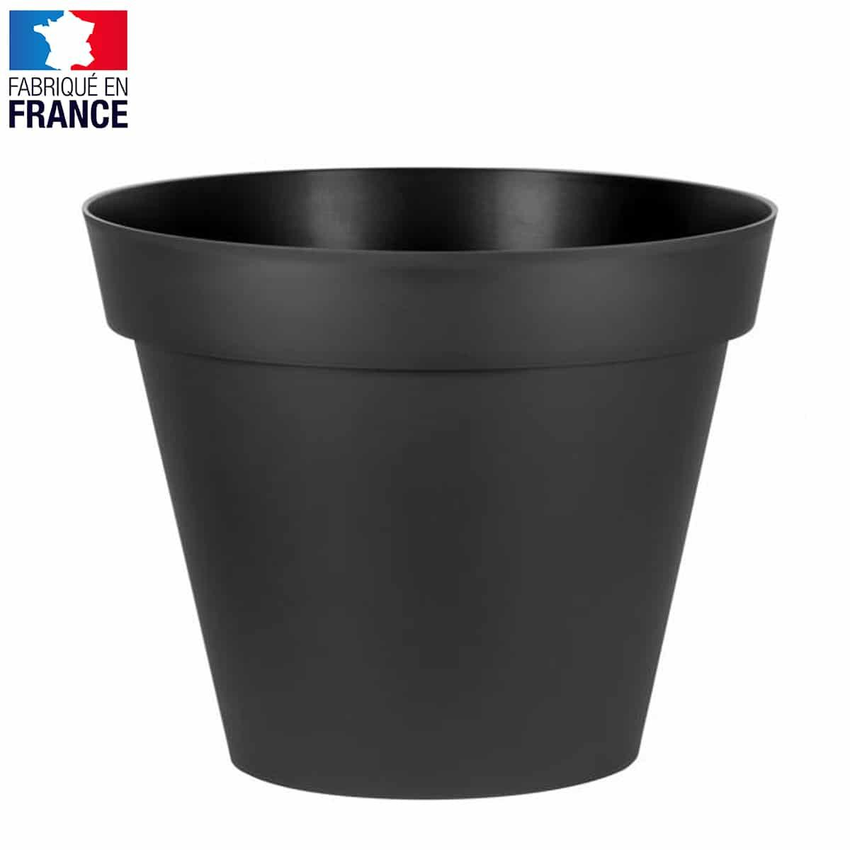 Grand Pot De Fleurs Xxl Gris - Diam. 100Cm X Haut. 80Cm 365L à Grand Pot Pour Jardin