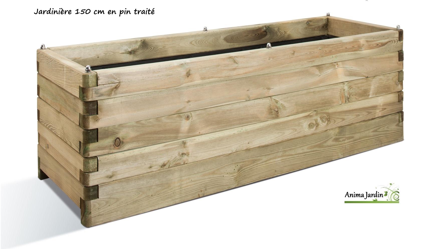 Grande Jardinière Bois 150Cm Pour Plantes, Autoclave, Achat/vente destiné Bac Rectangulaire Jardin