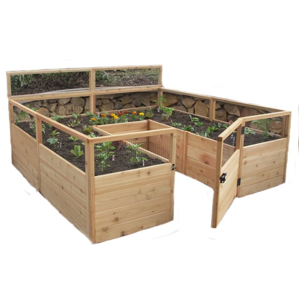 Great For Growing Larger Plots Of Veggies And Flowers. The ... concernant Bac À Jardiner