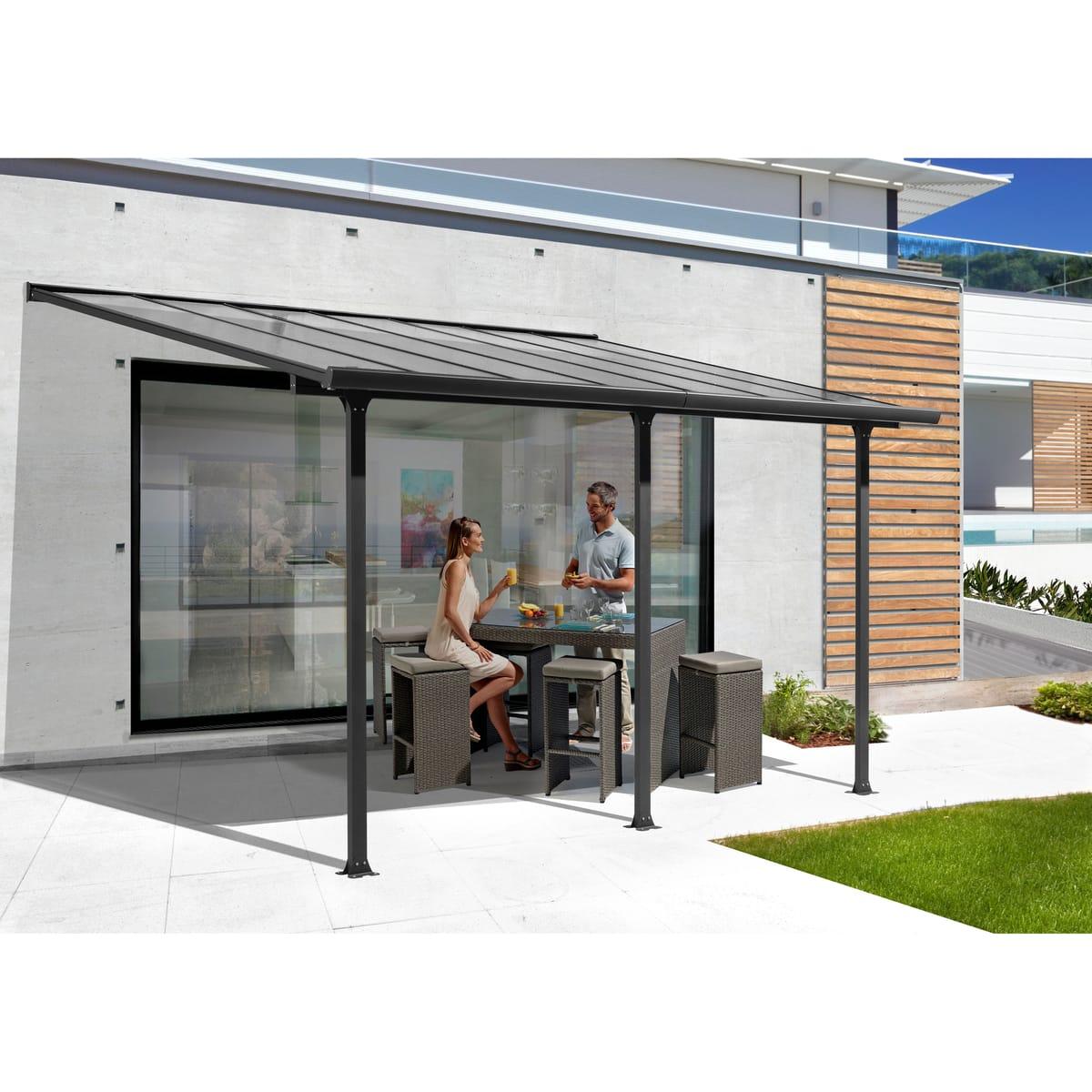 Habrita - Toit Terrasse Aluminium - 15,38 M² pour Toit Terrasse Pas Cher