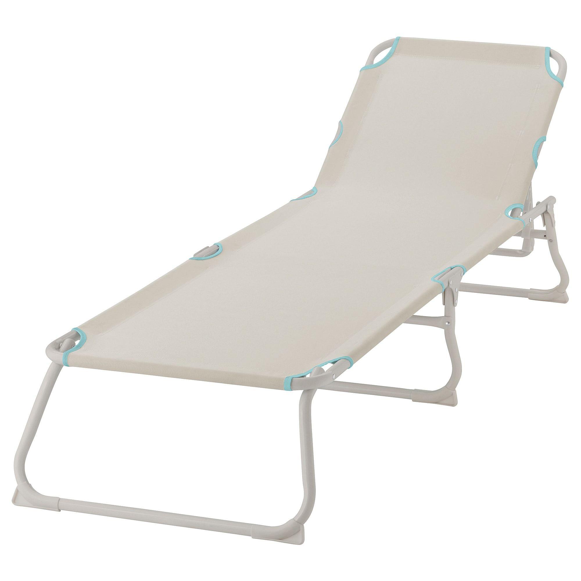 Håmö Chaise Lounger - Light Beige   Balancelle, Bain De ... destiné Transat Jardin - Ikea
