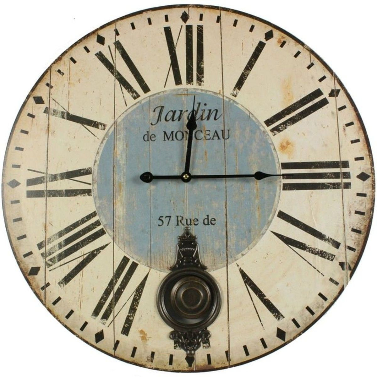 Horloge Ancienne Balancier Jardin De Monceau 58Cm - Taille ... dedans Horloge De Jardin