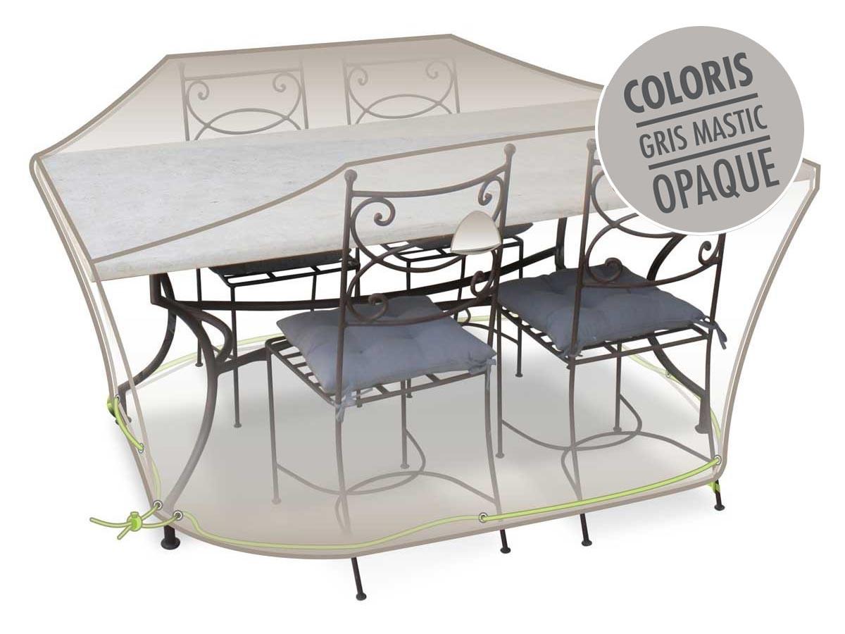 Housse De Protection Luxe Pour Salon De Jardin - intérieur Housse De Table De Jardin Ovale