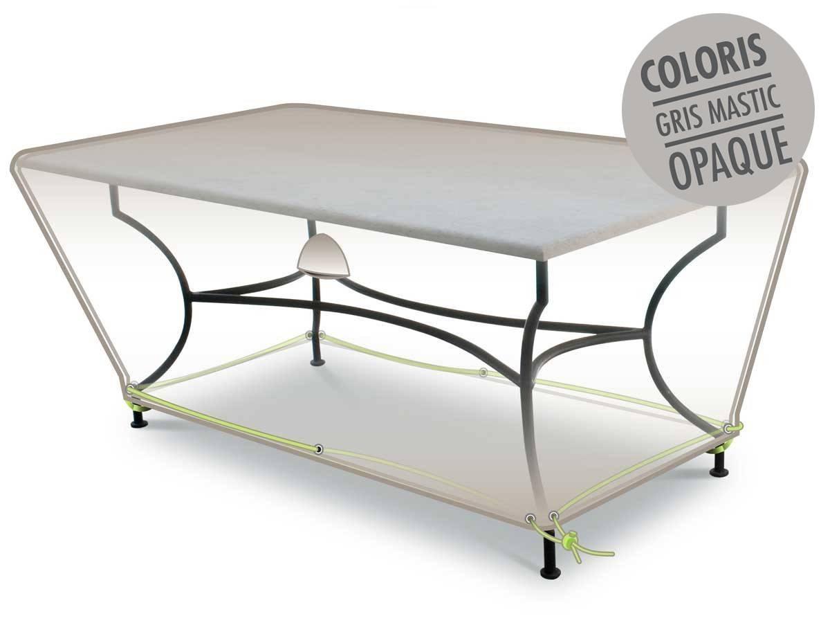 Housse De Protection Luxe Pour Table Rectangulaire - dedans Housse Table Jardin Rectangulaire
