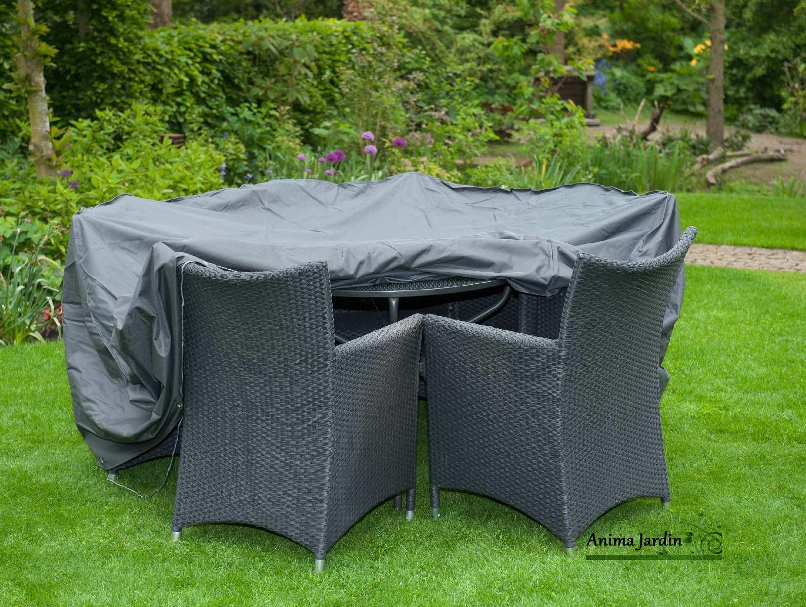 Housse De Protection Salon De Jardin, Table Ronde, Imperméable encequiconcerne Housse De Meuble De Jardin