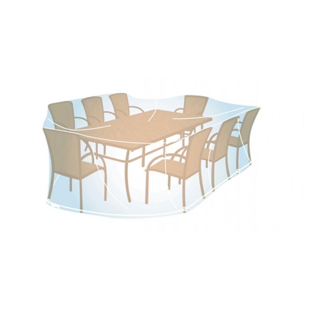Housse Pour Ensemble De Jardin Rectangulaire Ou Ovale - 100X270X220 Cm  Campingaz Sur Bricozor avec Housse De Table De Jardin Ovale