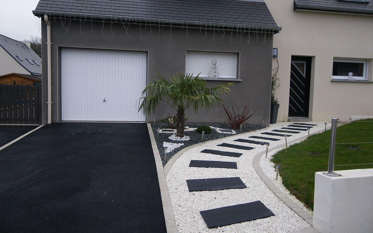 Idee Cloture Devant Maison Design De Maison Beau Amenagement ... pour Jardin Devant Maison