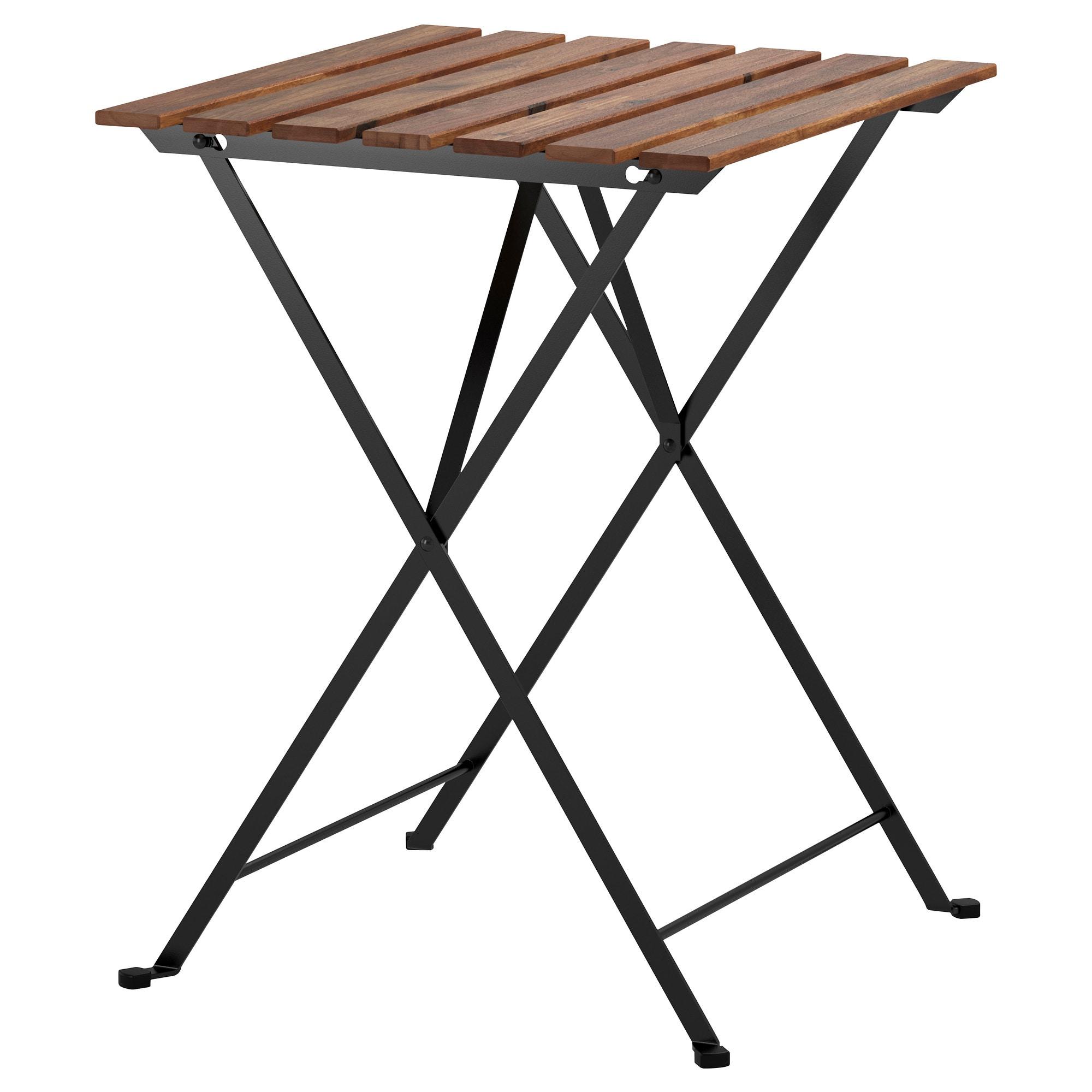 Ikea - Tärnö Table, Extérieur Noir Acacia, Acier Teinté Gris ... dedans Ikea Table Pliante Jardin