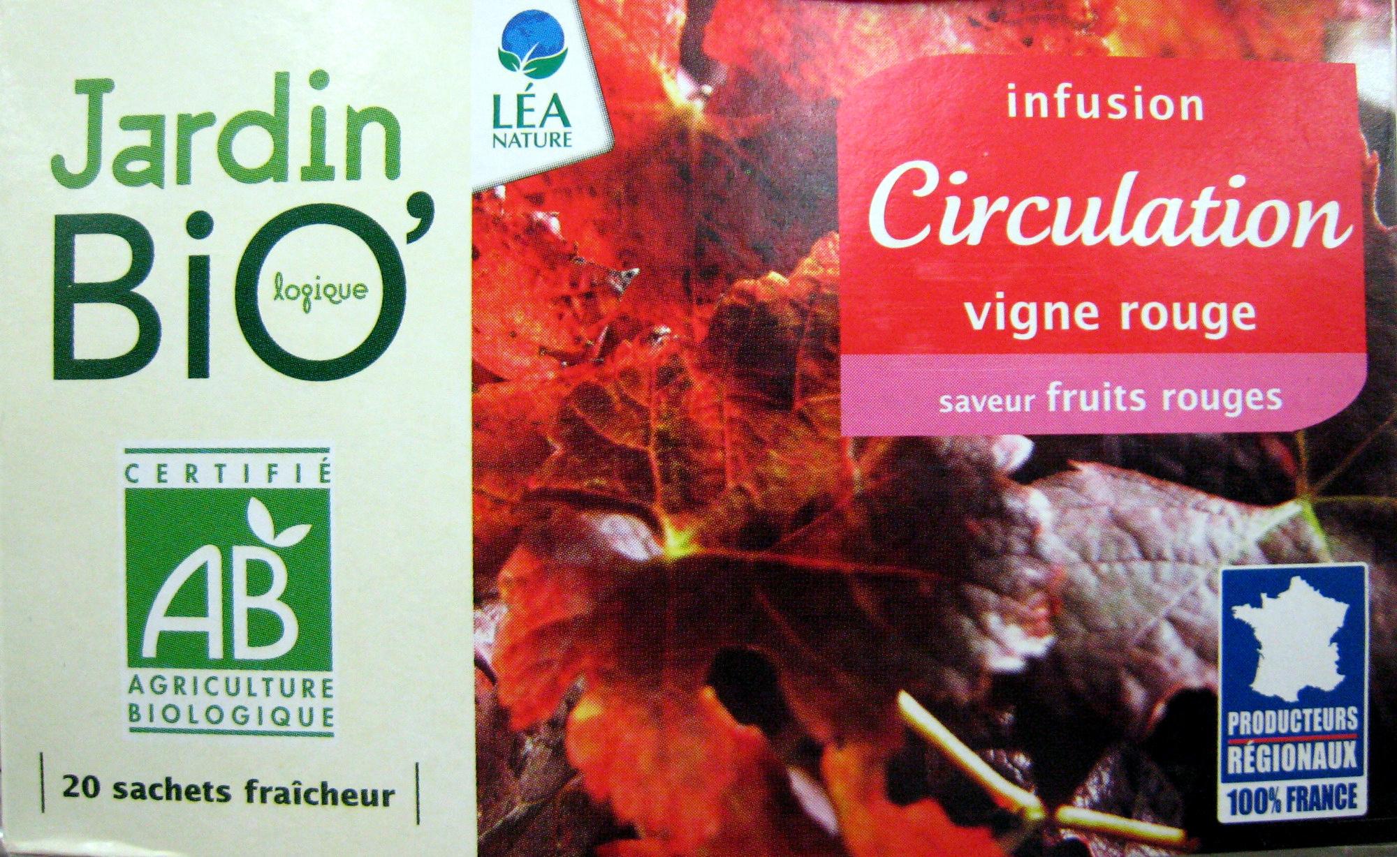 Infusion Circulation Vigne Rouge Jardin Bio - 30 G (20 ... encequiconcerne Infusion Jardin Bio