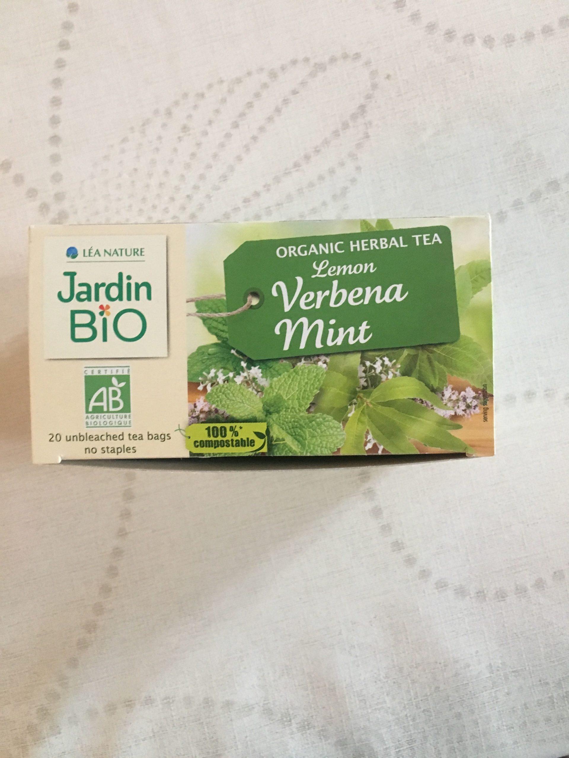 Infusion Verveine Citronnée Menthe - Jardin Bio - 20 Sachets destiné Infusion Jardin Bio