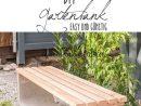 Instructions Pour Un Simple Banc De Jardin Fait Maison En ... tout Banc Extérieur Béton
