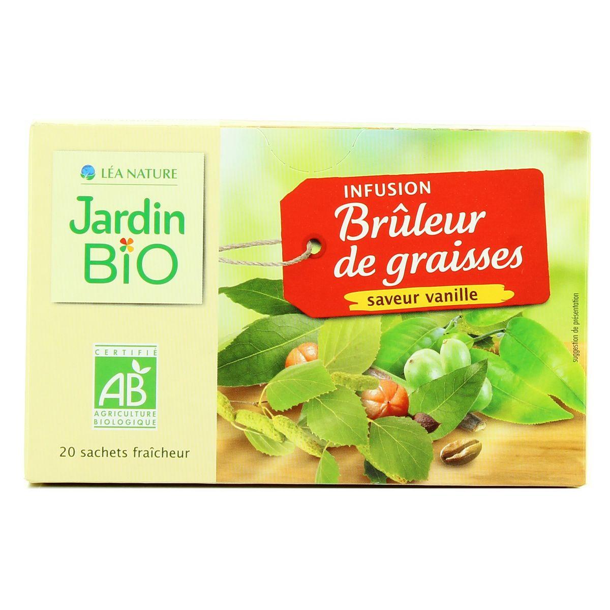 Jardin Bio Infusion Bio Brûleur De Graisses Saveur Vanille, 20 Sachets tout Infusion Jardin Bio