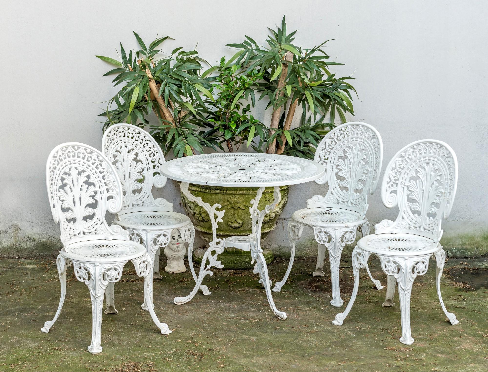 Jardin Chaises De Table De Jardin Hanseatisches Im & Export ... pour Mobilier De Jardin En Fonte