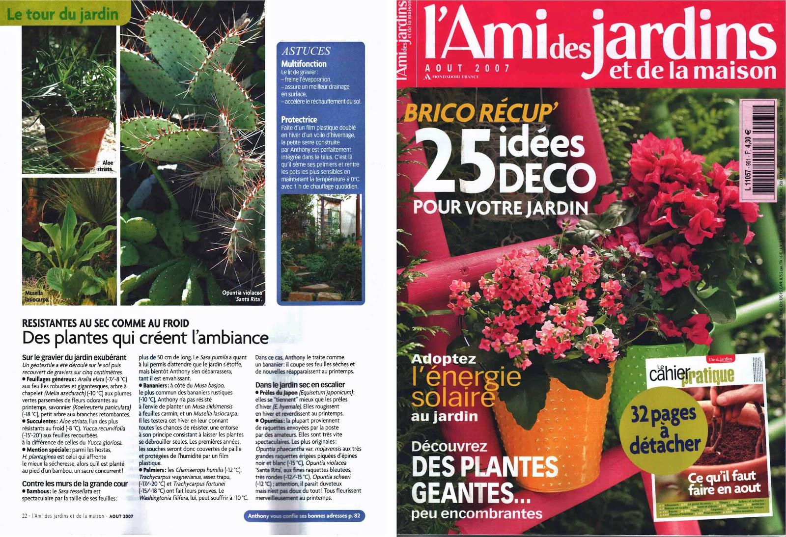 "Jardin De Bésignoles: La Revue ""l'ami Des Jardins"" D'août 2007 serapportantà Ami Des Jardins Magazine"