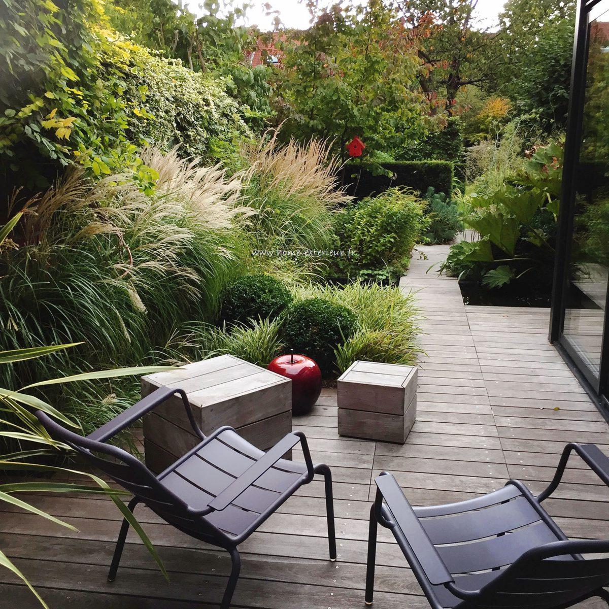 Jardin De Ville Et Terrasse À Lambersart (59 - Nord ... tout Architecte Exterieur Jardin