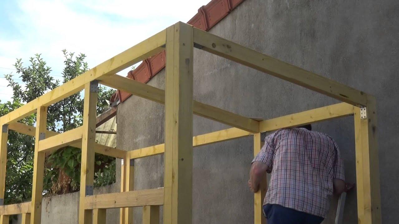 Jardinage Par Philordi Construction D'un Abris De Jardin Phase 9 Les  Renforts De Toit tout Fabriquer Abris De Jardin