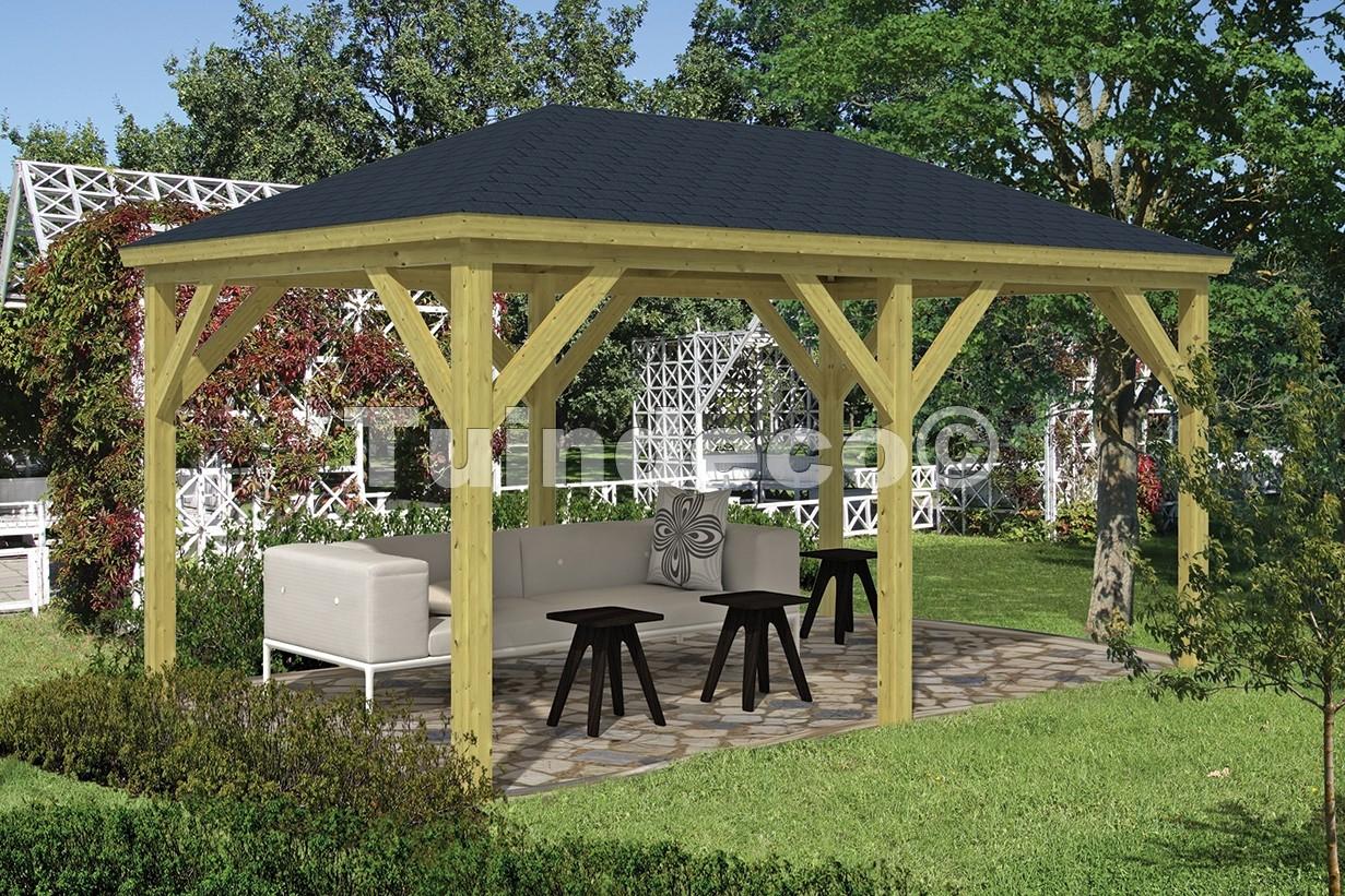 Kiosque De Jardin Grand Rectangulaire De Tuindeco serapportantà Kiosque Aluminium Jardin