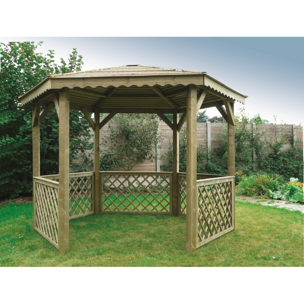 Kiosque De Jardin Hexagonal Solid En Bois 6.68M² avec Kiosque Jardin Bois
