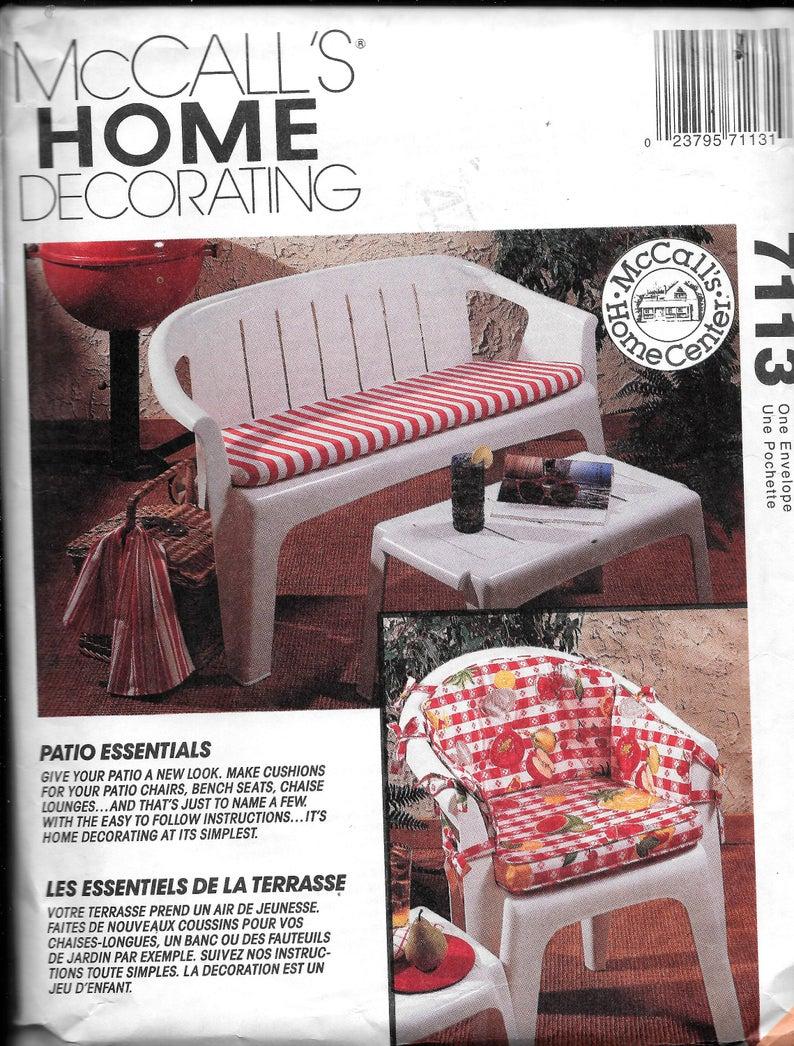 Kits & Anleitungen Mccall 7113 Patio Essentials Stuhl Bank ... à Deco Design Jardin Terrasse