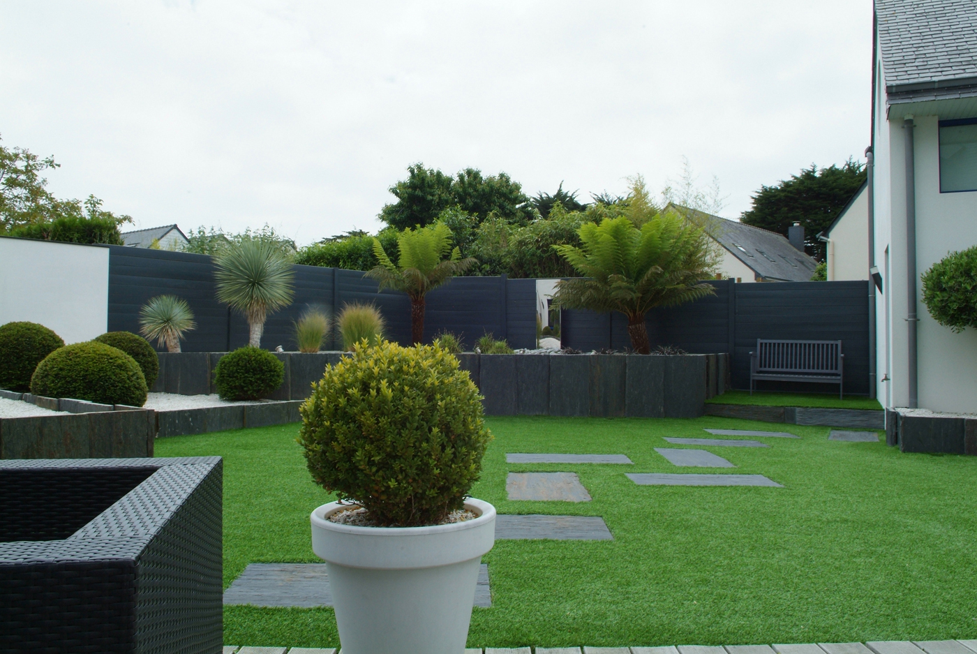 La Clôture De Jardin : Des Idées Pour Sublimer Votre ... pour Clotures Jardin Design