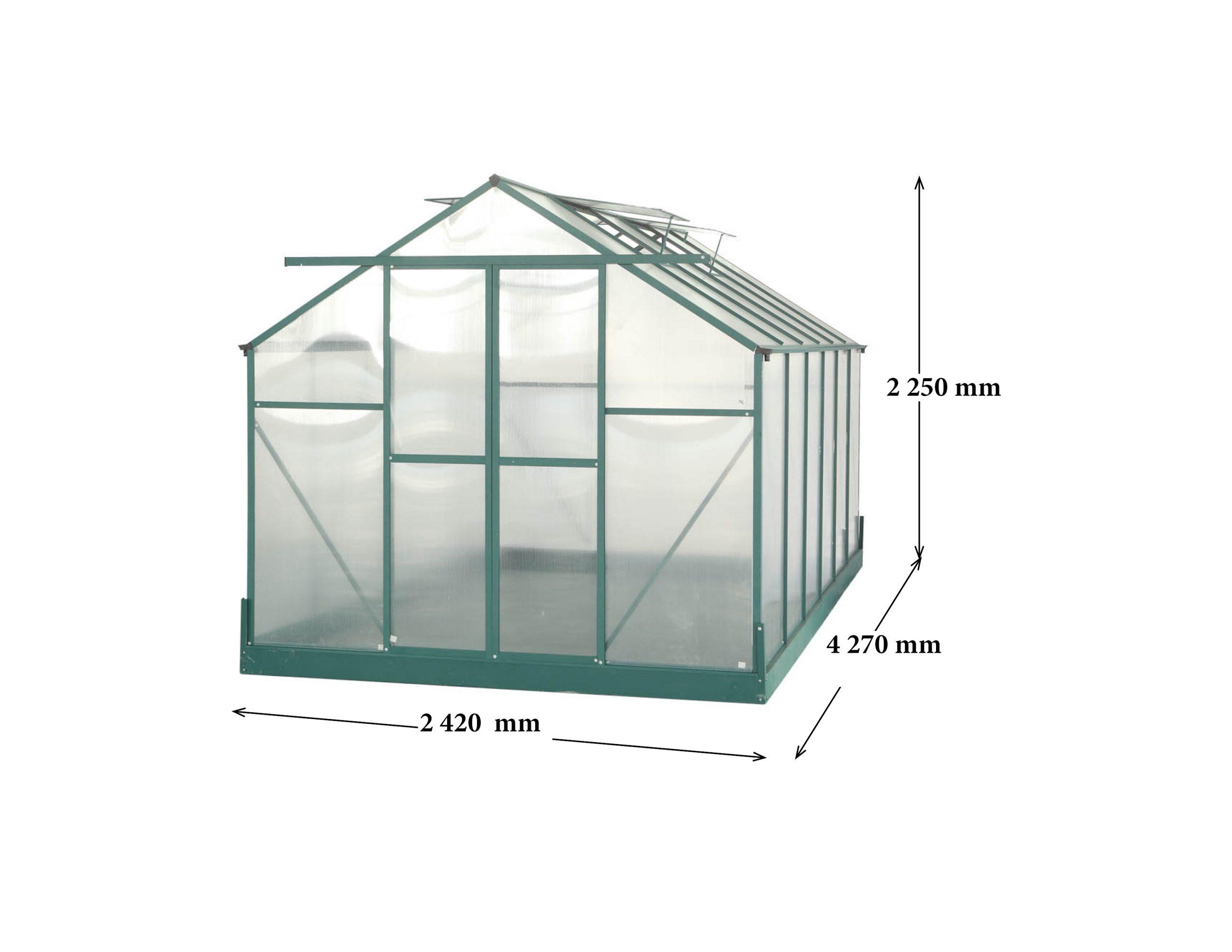 La Maison Du Jardin : Serre Polycarbonate 10.33M² Aluminium ... pour Fabricant Serre Polycarbonate