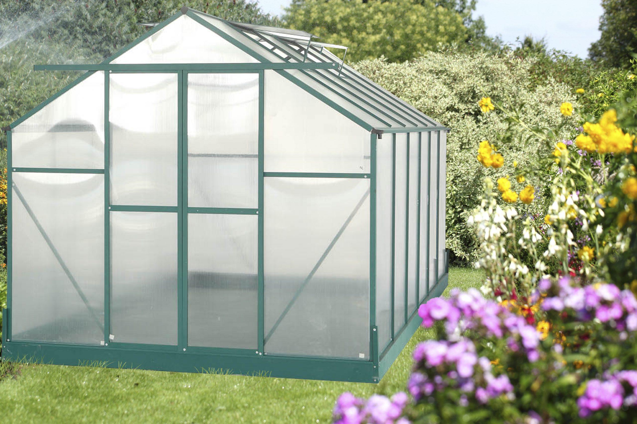 La Maison Du Jardin : Serre Polycarbonate 10.33M² Aluminium ... tout Fabricant Serre Polycarbonate