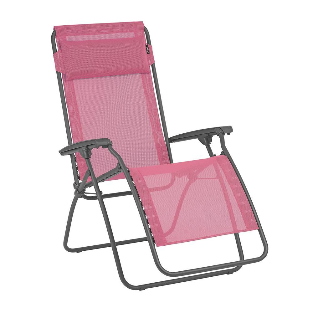 Lafuma Furniture R-Clip In Begonia Color With Steel Frame ... dedans Relax Lafuma